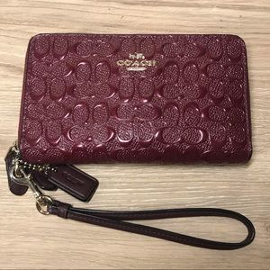 Coach Double-Zip Phone & Wallet Wristlet